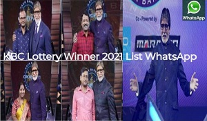 KBC Lottery Winner 2021 List WhatsApp