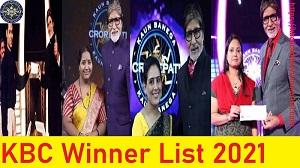 KBC Winner List 2021