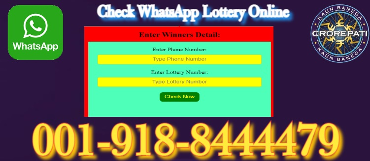 Check WhatsApp Lottery Online