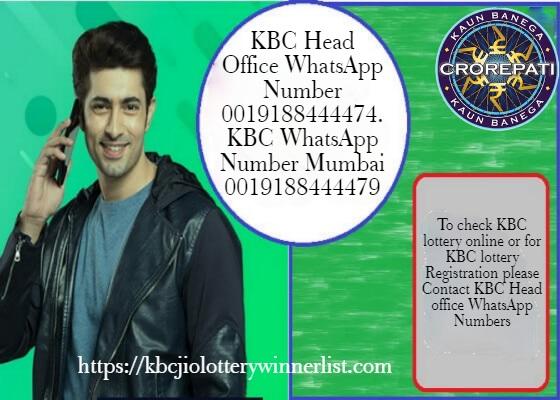 KBC Head Office WhatsApp Numbers for KBC Lottery Registration