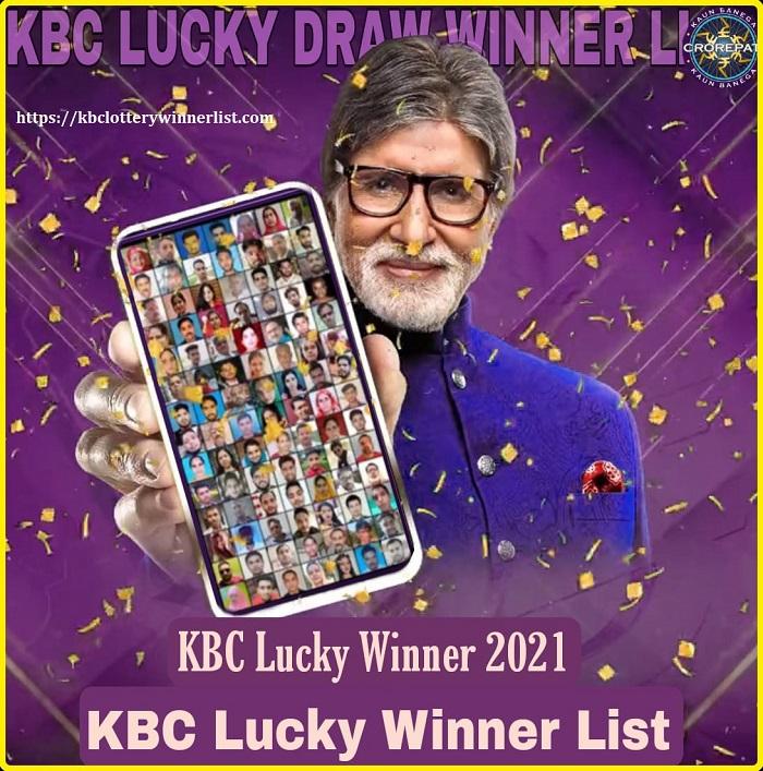 KBC Lucky Winner 2021 List